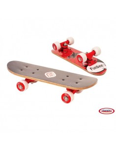 FUNBEE Mini Skate Erable 17'' Rouge